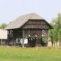 Typisches slowenisches Holzgebäude