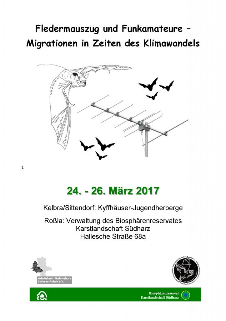 Deckblatt 17 Einladung Fledermauszug und Funkamateure