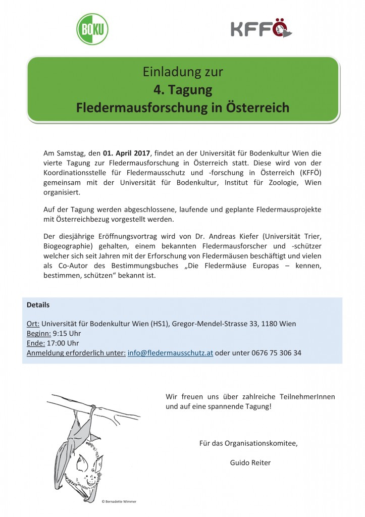 Fledermausforschung in Ö. 2017 - Einladung