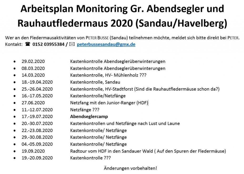 Arbeitsplan 2020 Peter Busse