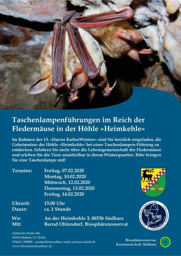 2020_02_Taschenlampenführungen im Reich der Fledermäuse in der Höhle Heimkehle