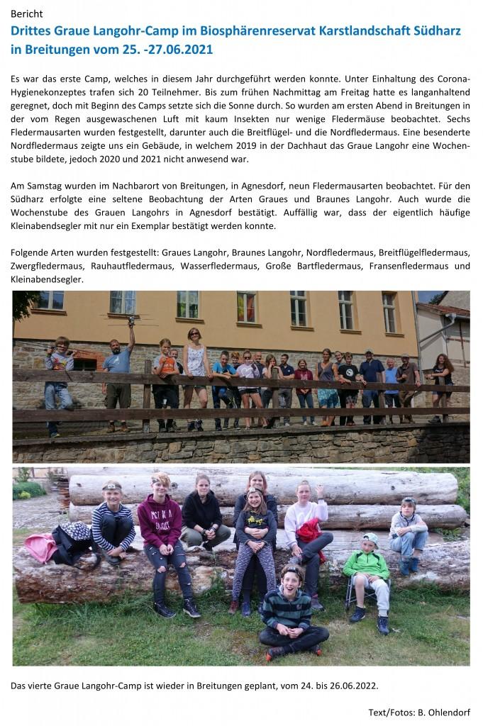 27.06.2021 Bericht Graue Langohr-Camp